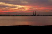Sunset in Dublin, Poolbeg chimney