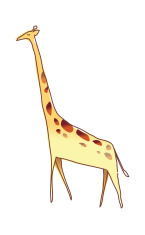 Giraiffe is standing