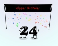 24th birthday party.
