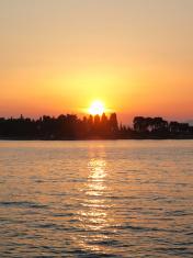 Beautiful adriatic sunset