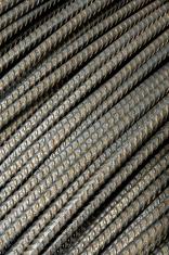 Closeup of steel rebars