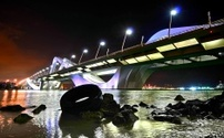 Sheik Zayed Bridge at Night