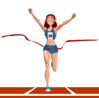 athlete winning