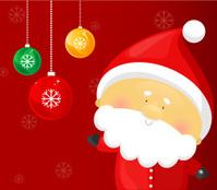 Santa Claus and xmas balls