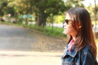 Portrait women outdoor road side