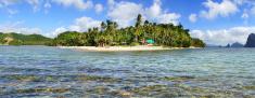 Las Cabanas beach. El Nido, Philippines