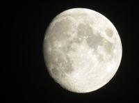 Moon waxing to full