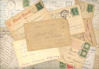 Vintage Postcard Collage Background