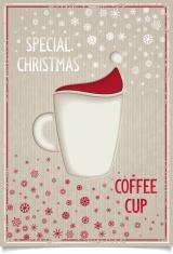 Fun vintage Christmas coffee cup