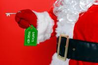 Santa using his magic key