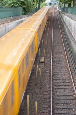Yellow Subway Train in Berlin