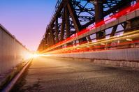 Sunset beautiful bridge