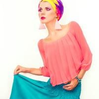 bright portrait of a stylish woman