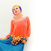 summer portrait of a stylish woman