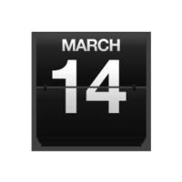 Counter calendar march 14.