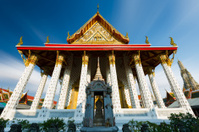 Asian temple in Wat Arun