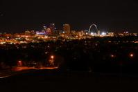 st. louis night time sky line