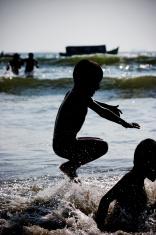 Children playing in Goa