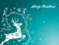 Merry Christmas beautiful vintage reindeer background EPS10 file