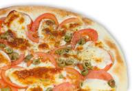 Italia pizza italiana restaurante with tomato, chesse and olives