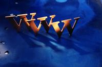 WWW On blue