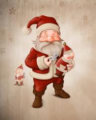 Santa Claus and mechanical doll