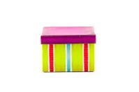 colored striped gift box
