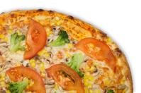 Vegetariana pizza italiana restaurante with vegetables