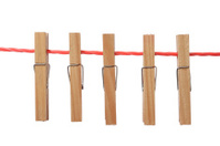 Clothespin in Clothesline
