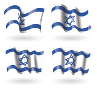Israel Flag Waving Set
