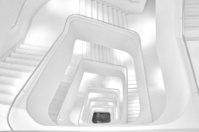 Stairways in black and white