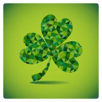 mosaic green three leaf clover