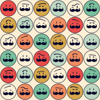 pattern of men faces