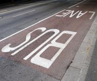 Bus lane.