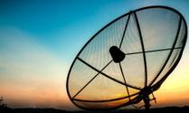 satellite in the evening