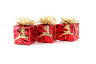 Red gift box.