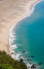Beautiful blue beach