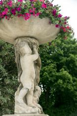 Flower Urn in Luxembourg Gardens Paris