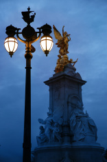 London Street Light In Front Of Buckingham Palace,