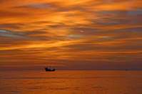 Burning sky over gulf