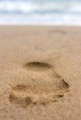footprint on sand #2