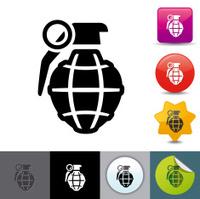 Hand grenade icon | solicosi series