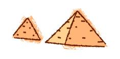 pair of pyramids