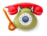 Rainbow Vintage Phone