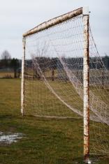 Dreary Soccer Goal