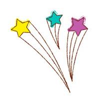 Three of shooting stars