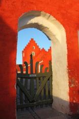 Odden Kirke parish church in morning light