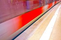 underground with train in Motion