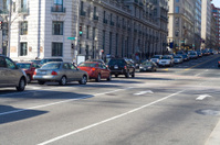 Cars Lined Up Street During Evening Rush Hour, Washington, DC