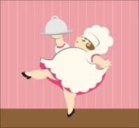 Chubby Female Chef